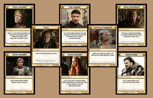 Love Letter Games of Thrones