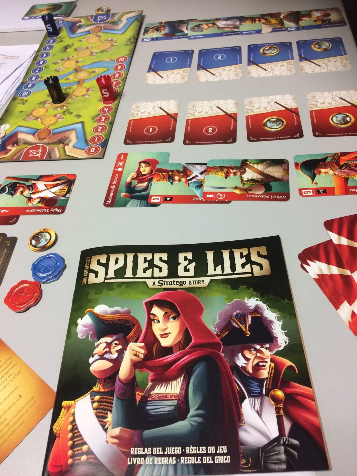 Spies and lies, le Stratégo en cartes